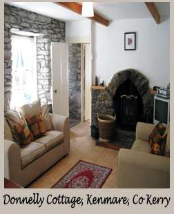 Kenmare Co Kerry, Donnelly Cottage holiday home accommodation Ireland